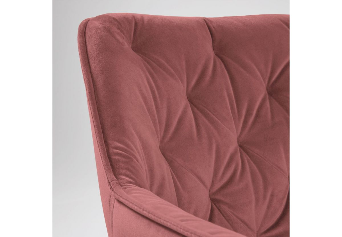 CHAISE VELOURS MULDER ROSE