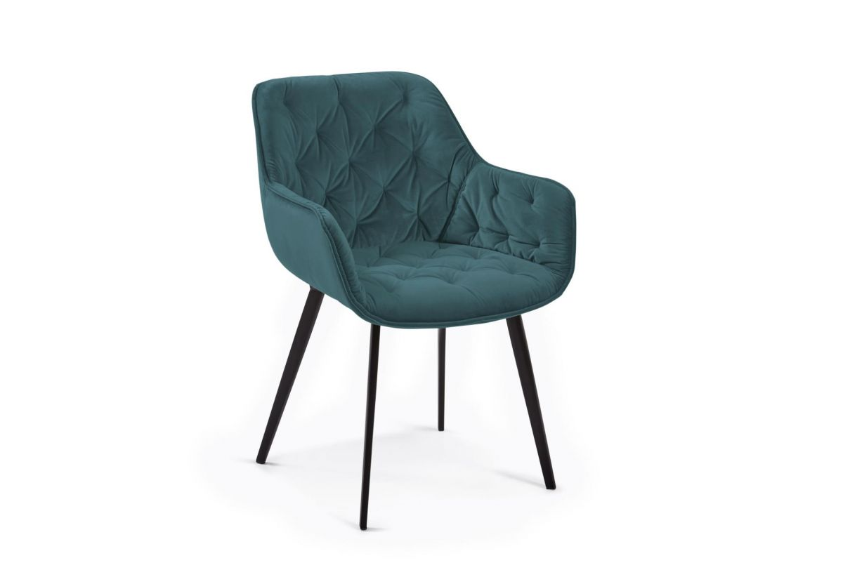 CHAISE VELOURS MULDER TURQUOISE