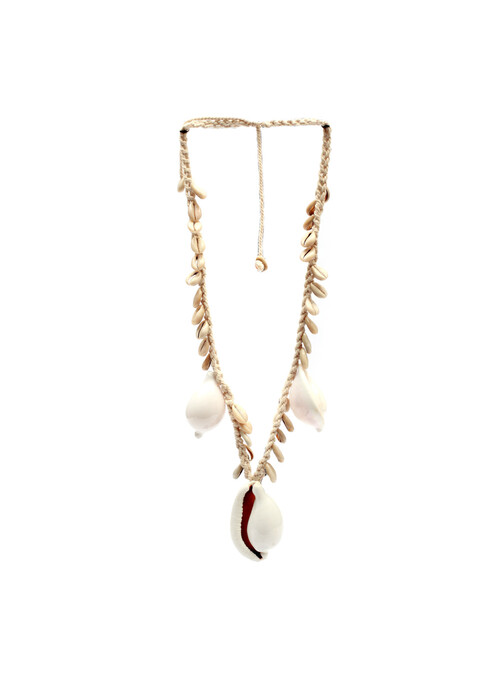 COLLIER BIG BLANC COWRIE SHELL