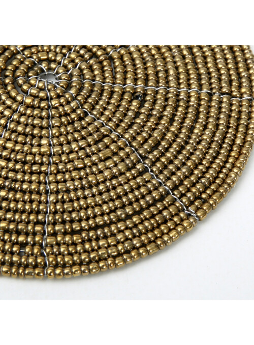 SOUS-VERRE BEADED GOLD