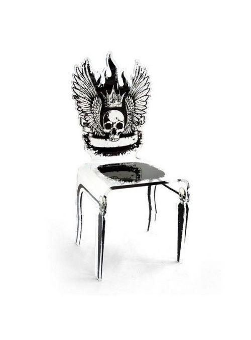 chaise let's rock tete de mort