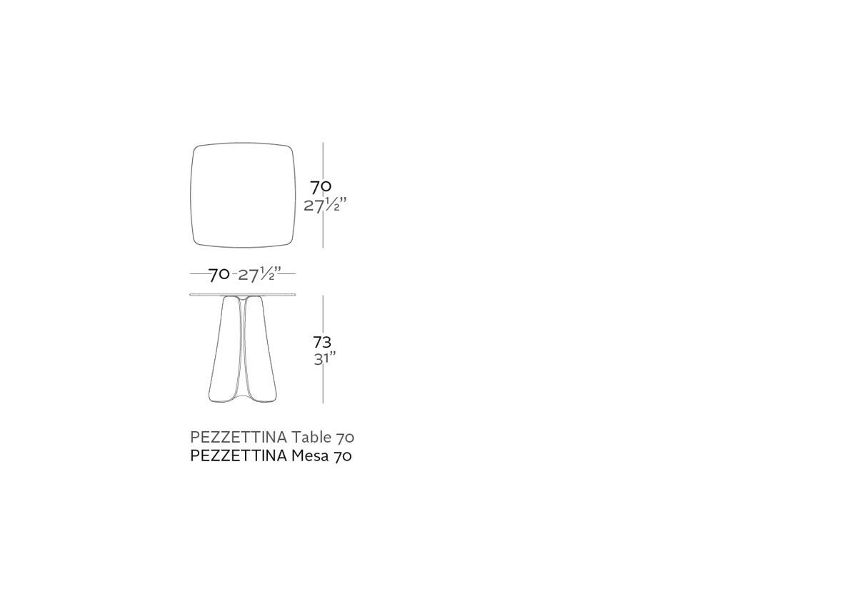 Table PEZZETTINA