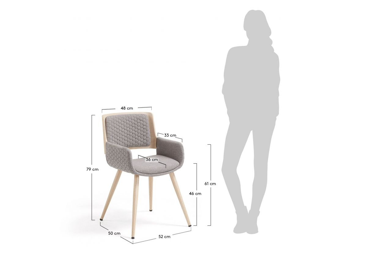 ANGIE CHAISE AVEC ACCOUDOIRS