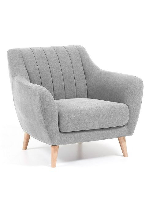OBO FAUTEUIL TISSU GRIS CLAIR