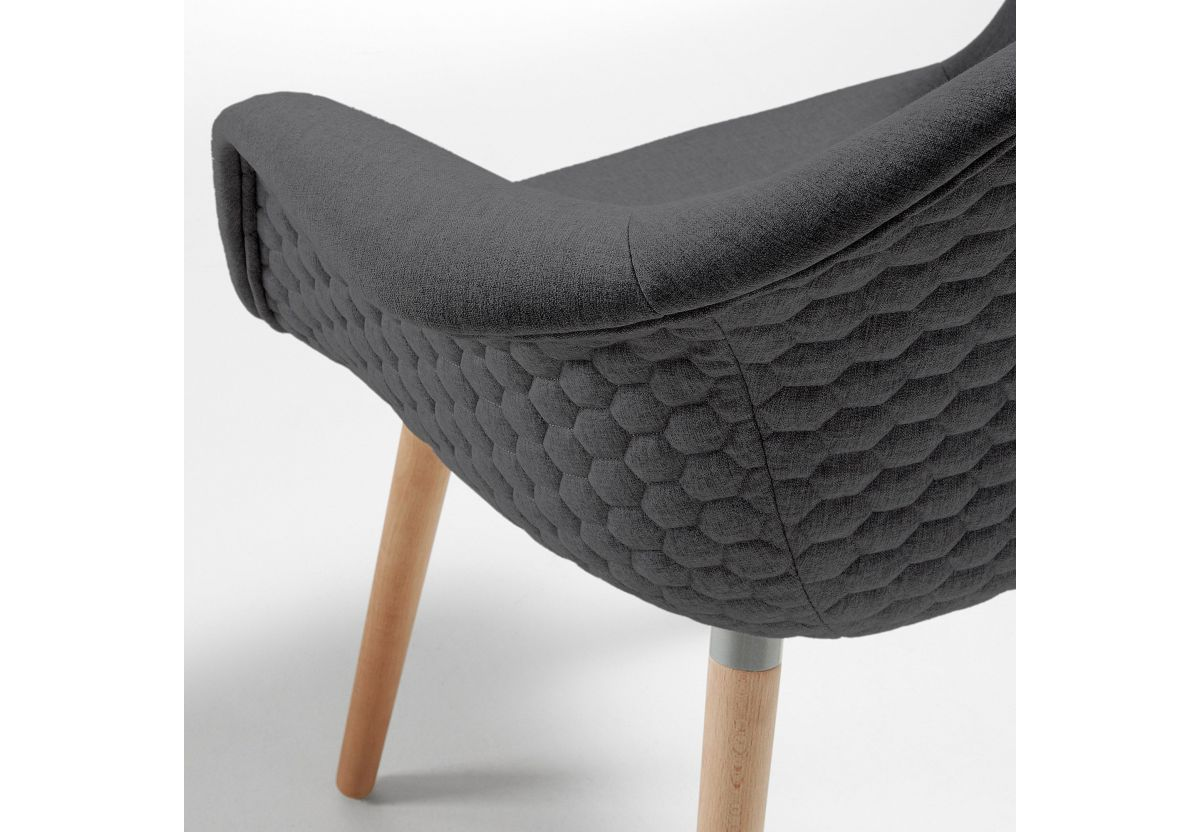 CHAISE KEVYA GRIS FONCE