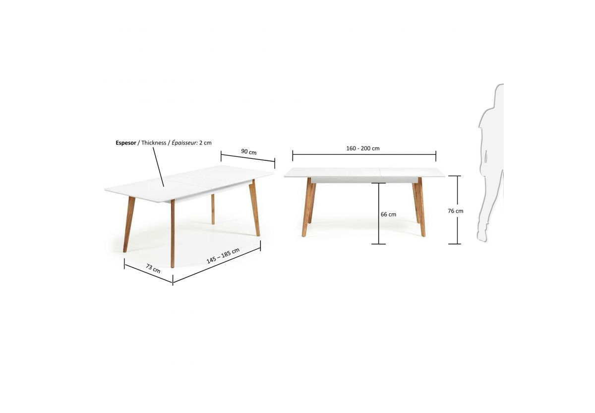 TABLE EXTENSIBLE MELAN