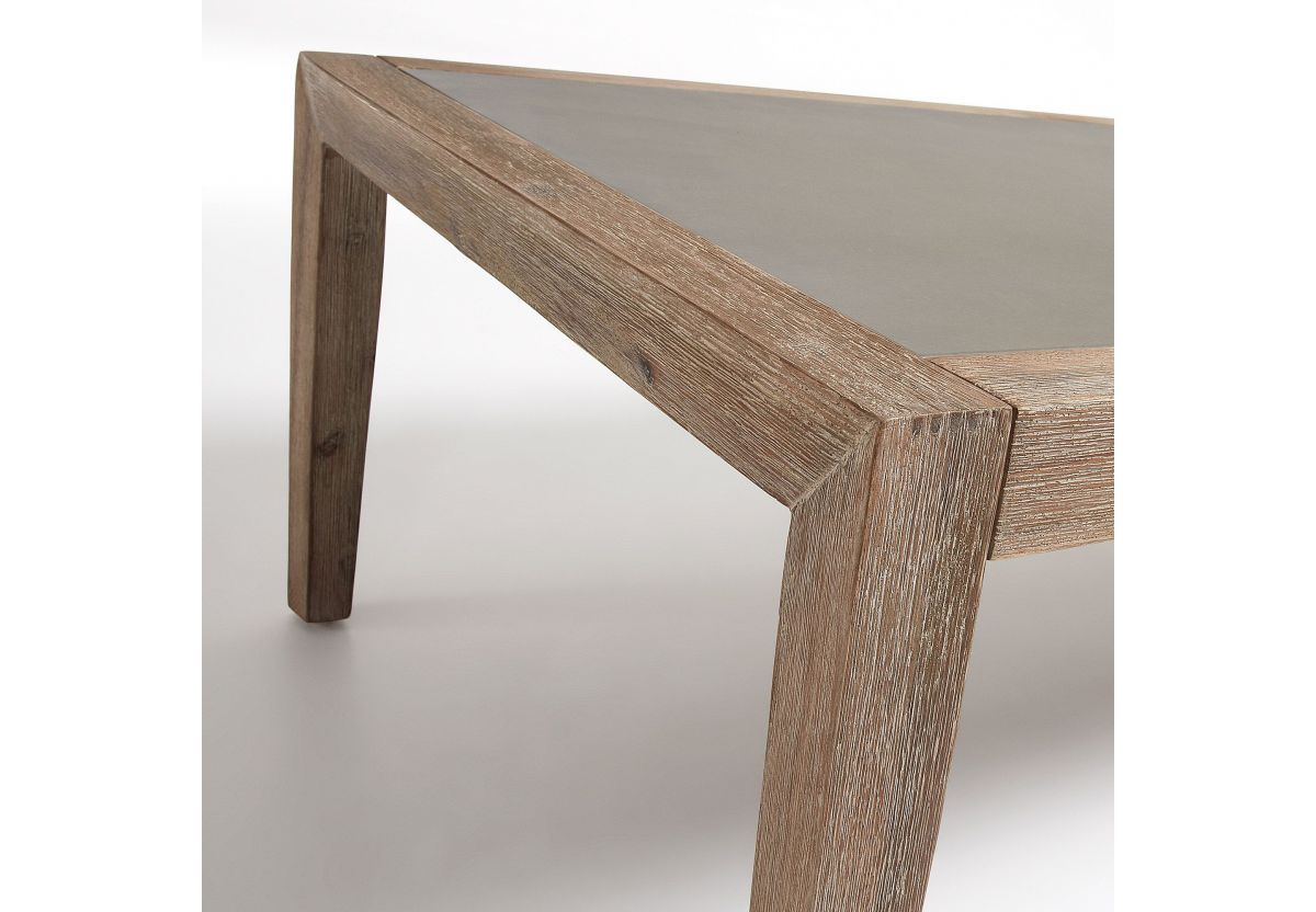 TABLE VETTER ACACIA POLY-CEMENTO