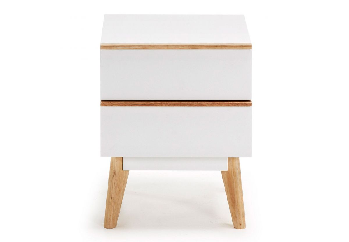TABLE DE CHEVET MELAN MDF BLANC MAT