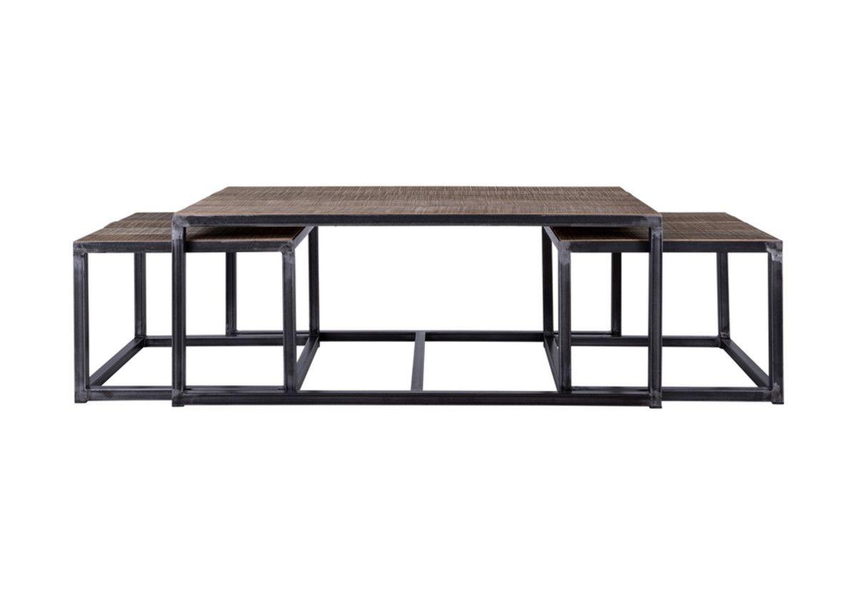 SET DE 3 TABLES BASSES BLACKWOOD