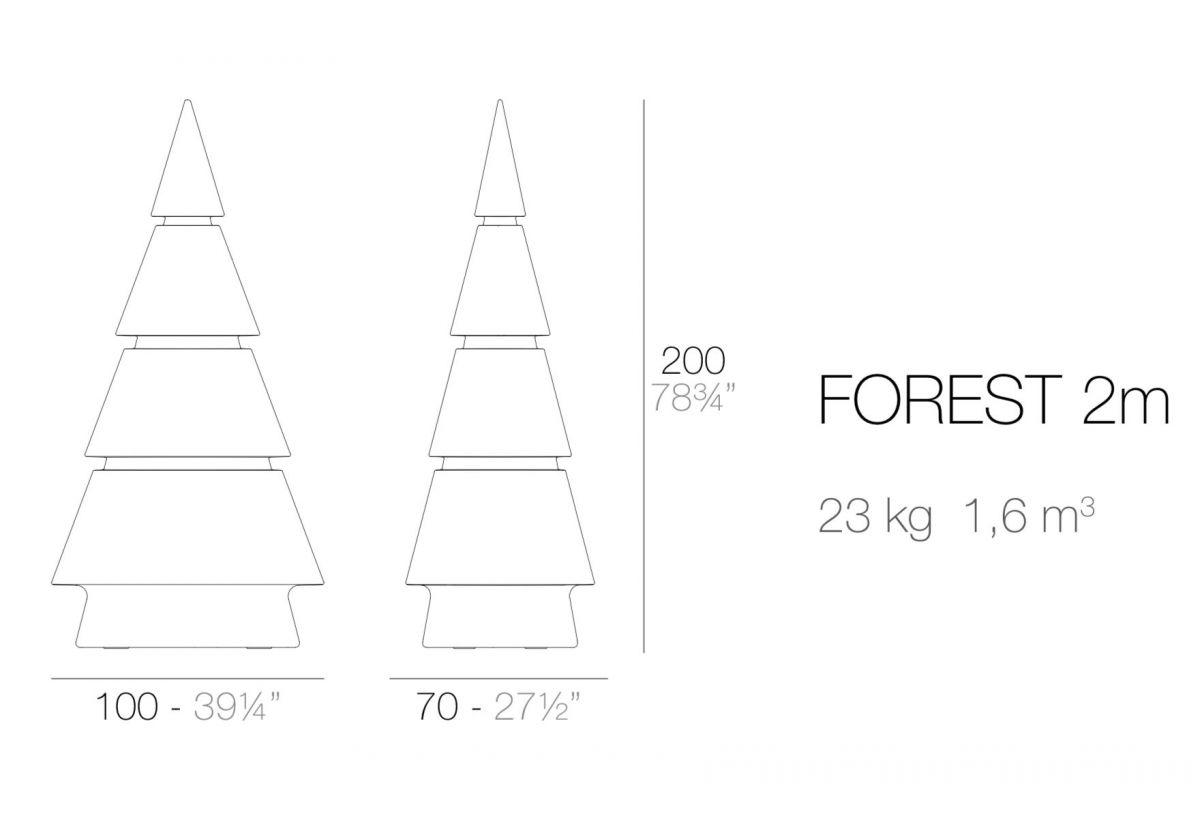 FOREST ARBRE DE NOEL LUMINEUX