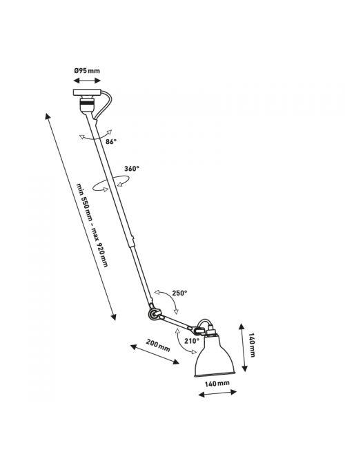 PLAFONNIER GRAS N° 302