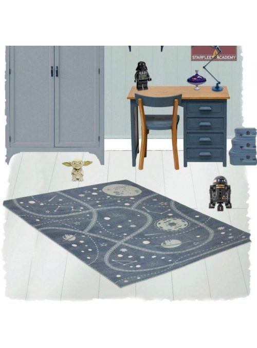TAPIS LITTLE GALAXY BLEU
