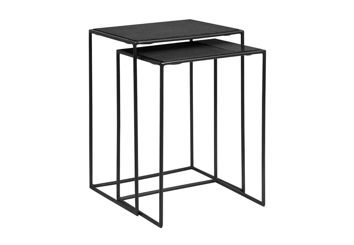 SET DE 2 TABLES D'APPOINT TIMELESS