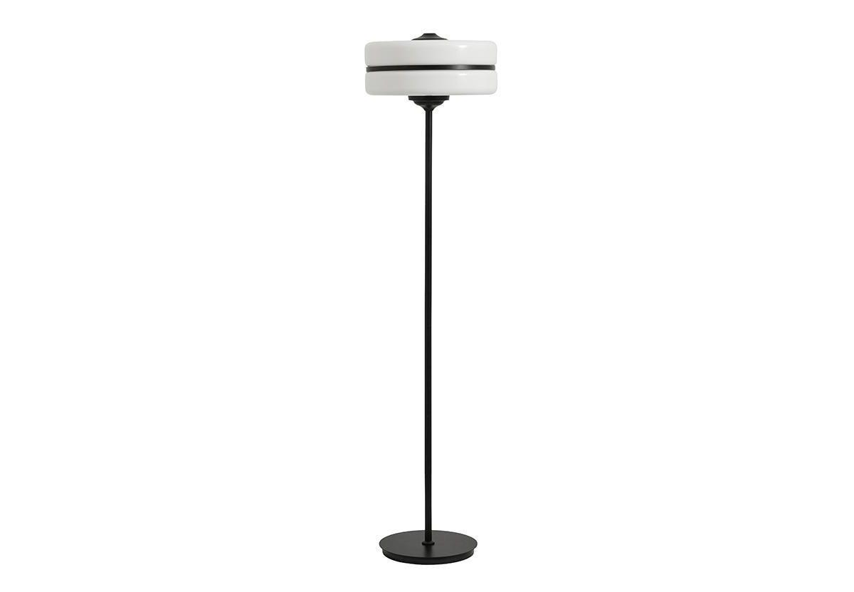 LAMPADAIRE EN VERRE ET METAL
