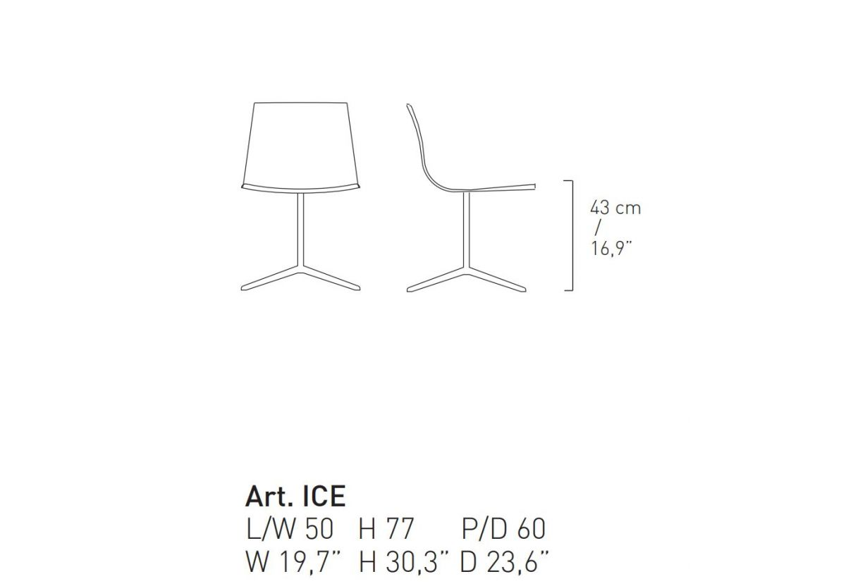 CHAISE PIVOTANTE ICE
