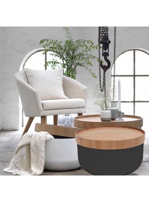 TABLE BASSE OLIVIA NOIRE