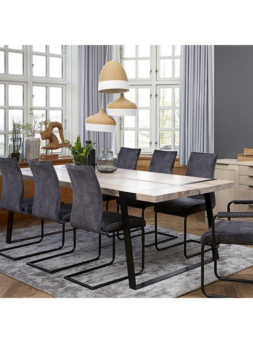 TABLE GIGANT CHENE NEUTRE