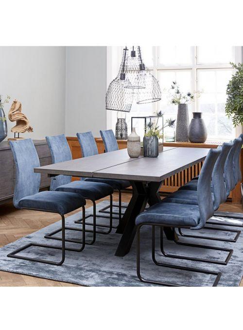 TABLE MAISON PLACAGE GRIS FONCE