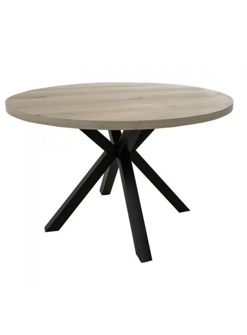 TABLE MAISON RONDE PLACAGE BLANC