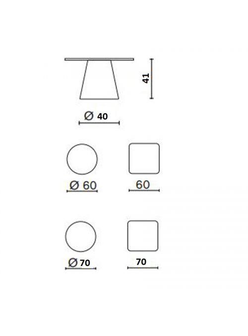 TABLE DE JARDIN LOULOU 40