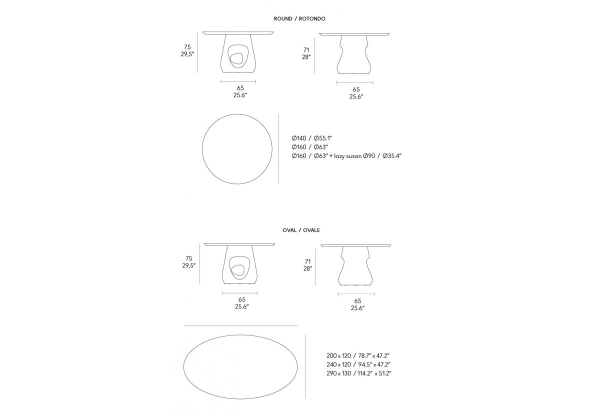 TABLE BARBARA MARBRE