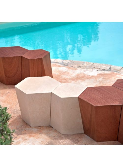 TABLE BASSE HEXAGON