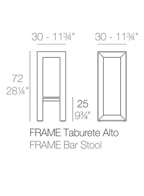 TABOURET DE BAR FRAME