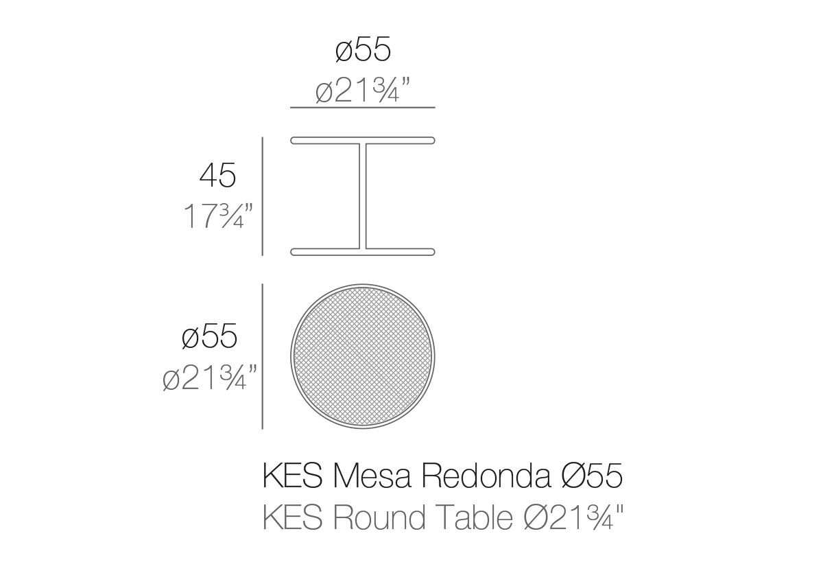 TABLE KES RONDE