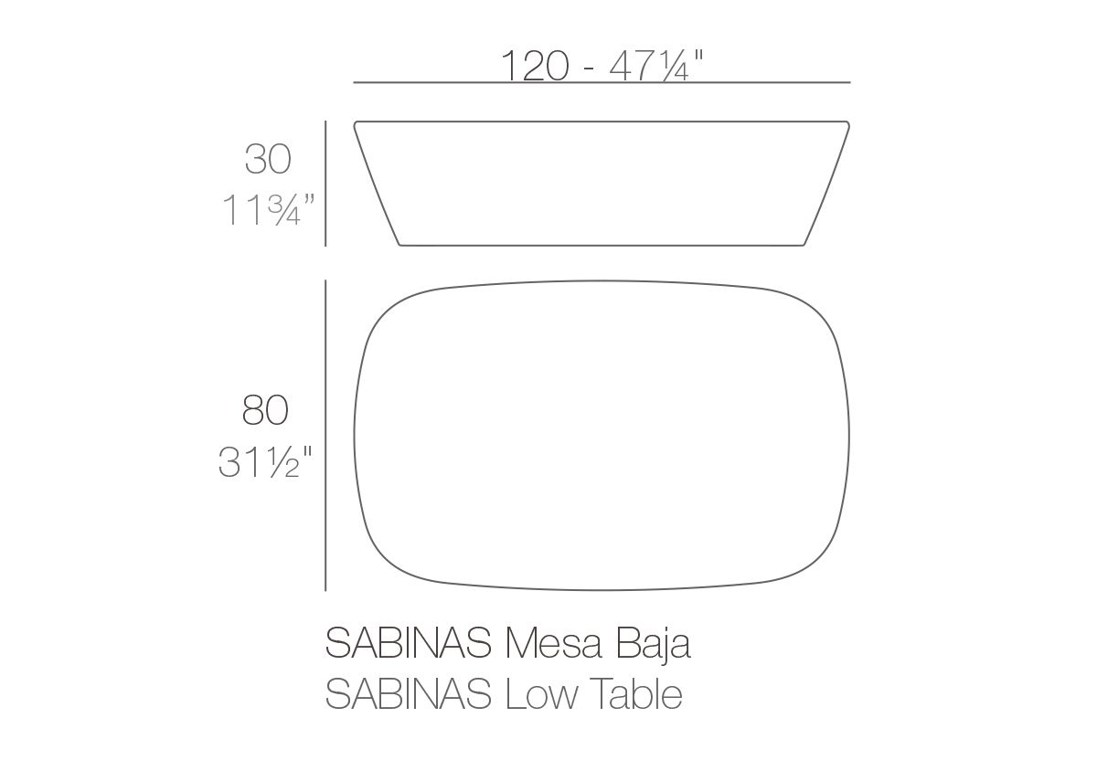 TABLE BASSE SABINAS
