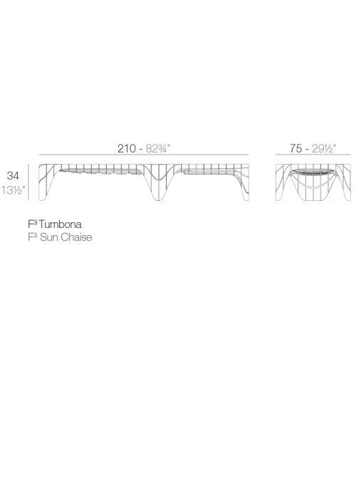 CHAISE LONGUE BICOLORE F3