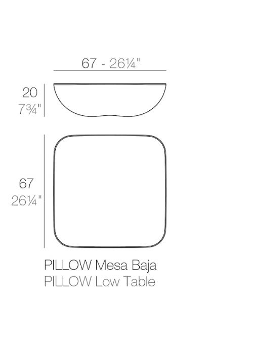 TABLE BASSE LUMINEUSE PILLOW