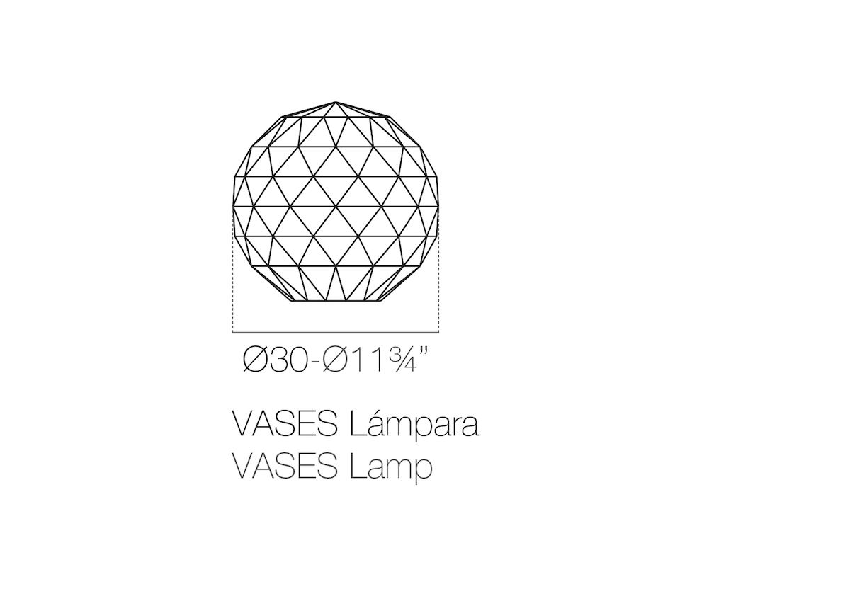 LAMPE DE SOL VASES