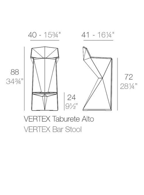 TABOURET VERTEX