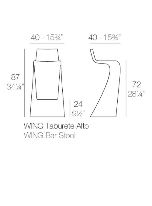 TABOURET LUMINEUX WING
