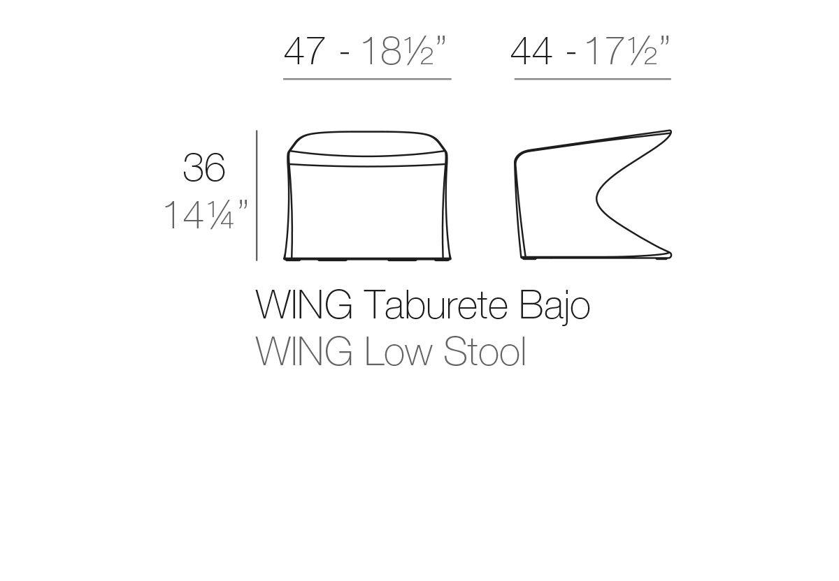 TABOURET BAS WING