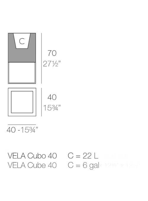 POT DE FLEUR VELA CUBO
