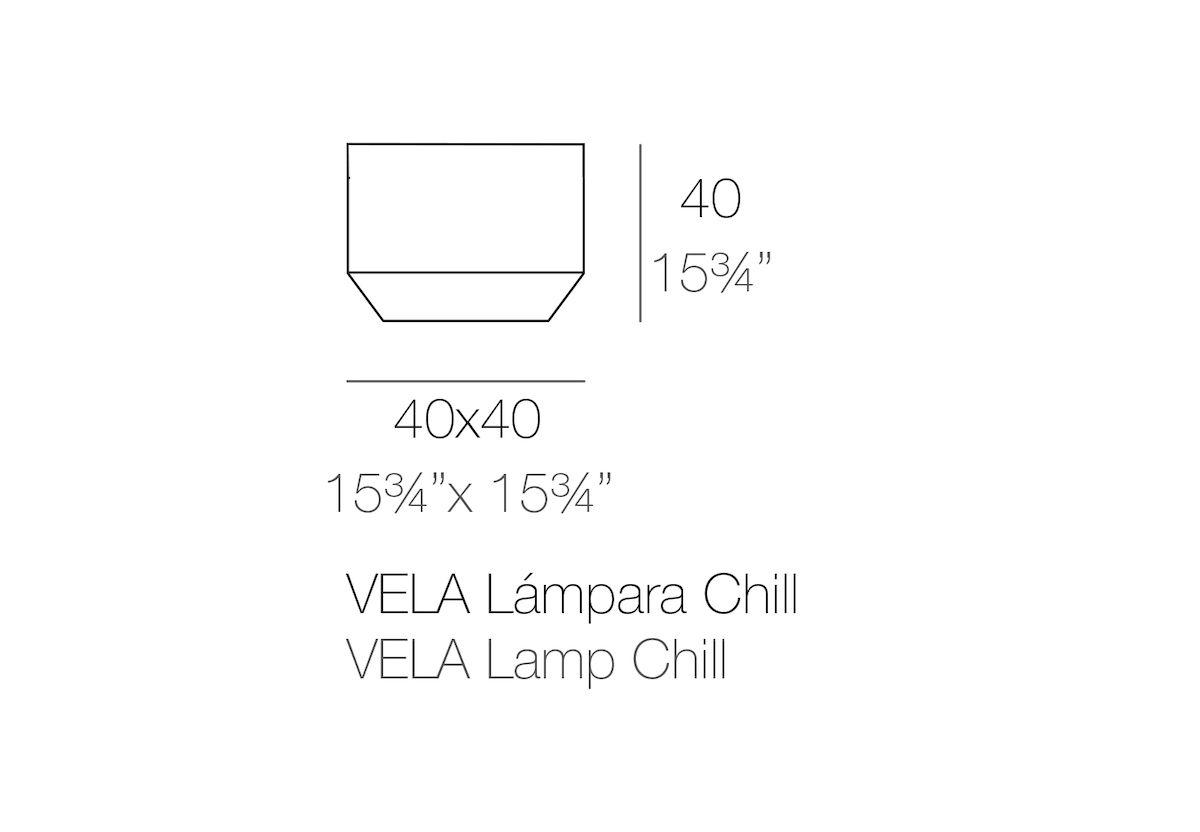 LAMPE CUBE VELA CHILL