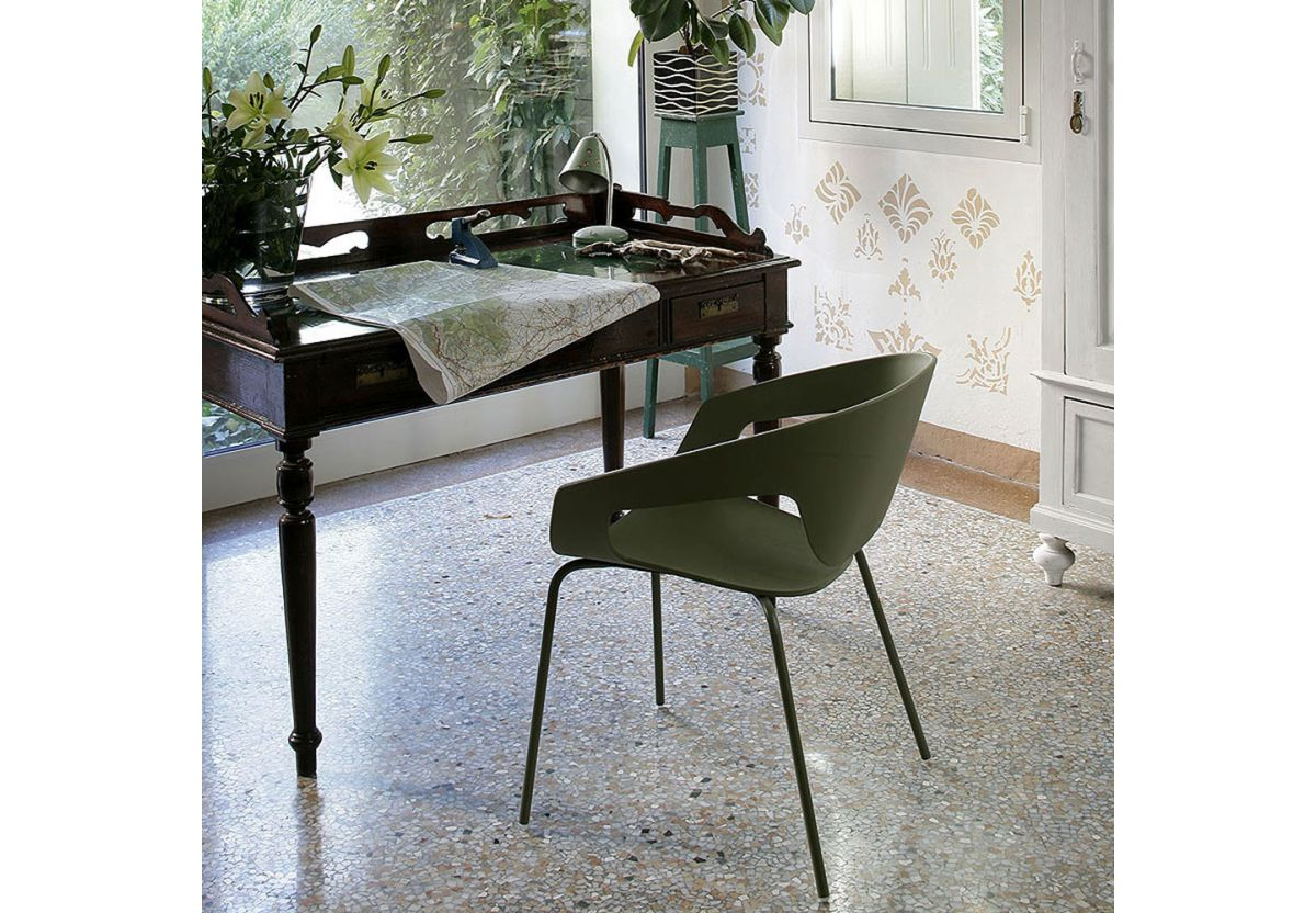 CHAISE EMPILABLE VAD VERTE