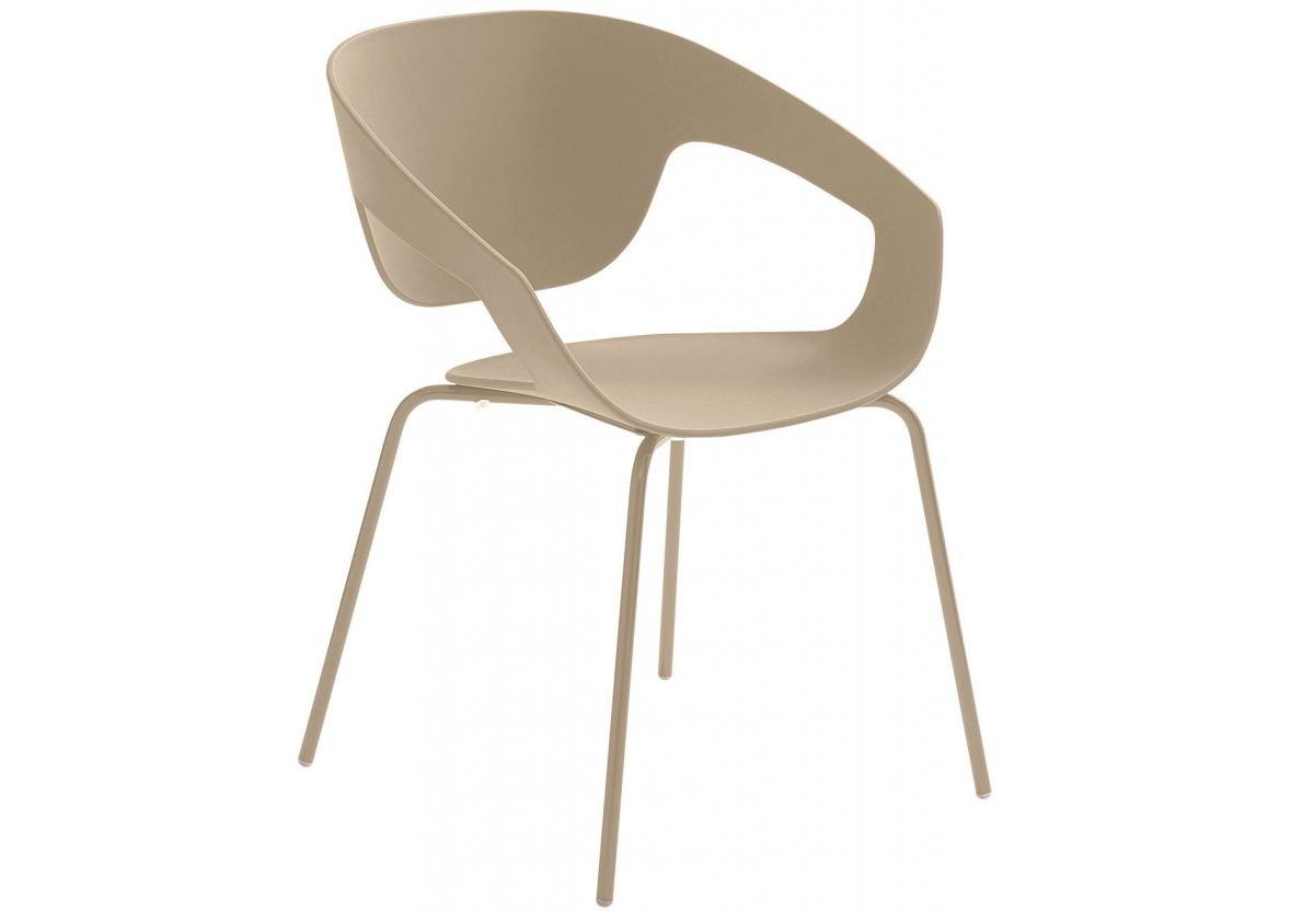 CHAISE EMPILABLE VAD BEIGE