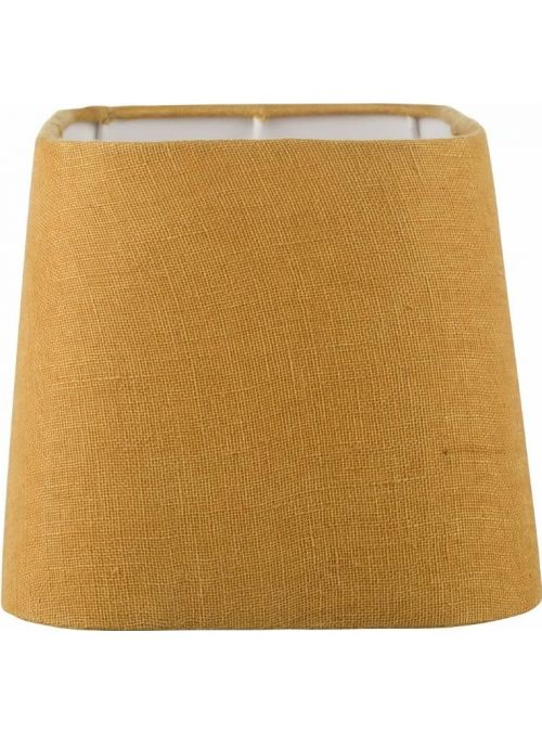 abat-jour Rustic Linen jaune