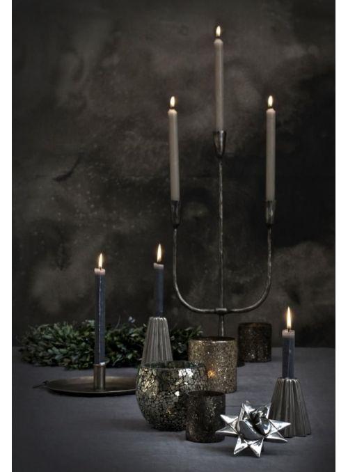 chandelier Vionia gris argenté