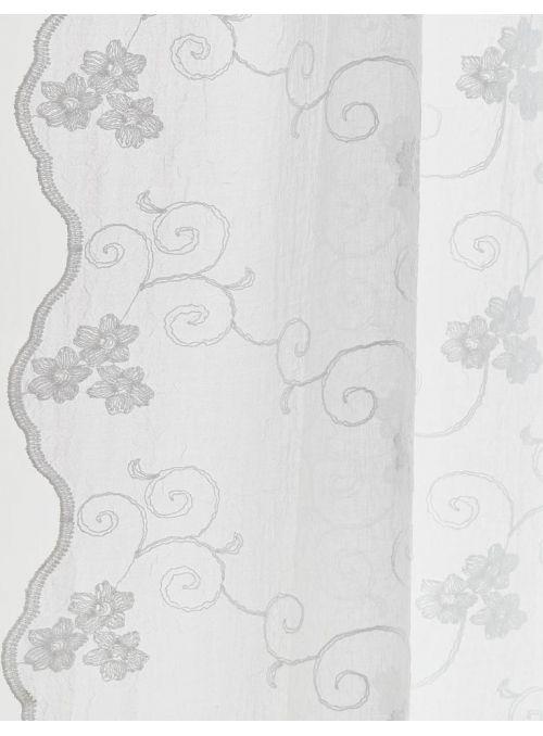 Rideau Petrea Crushed blanc