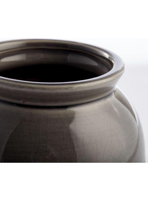 vase Clary gris fumé