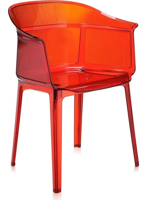 CHAISE PAPYRUS ROUGE ORANGE