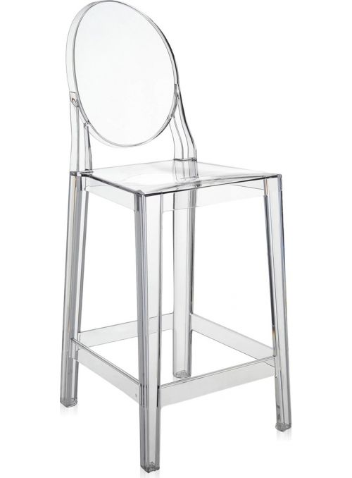 TABOURET ONE MORE 65CM CRISTAL