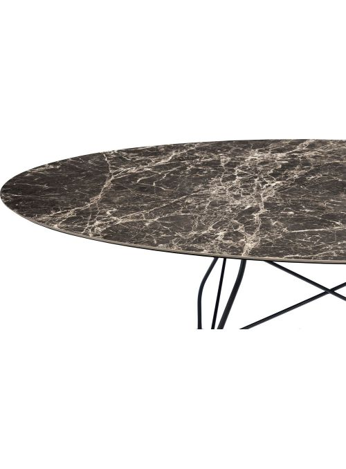 TABLE GLOSSY MARBLE BROWN...