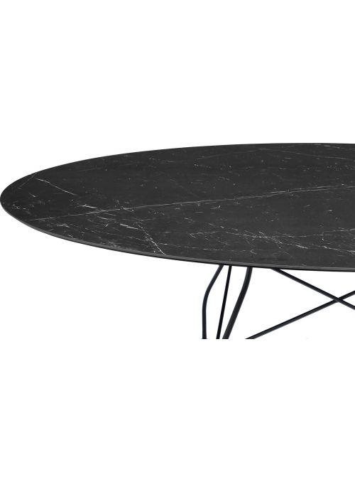 TABLE GLOSSY MARBLE NOIR