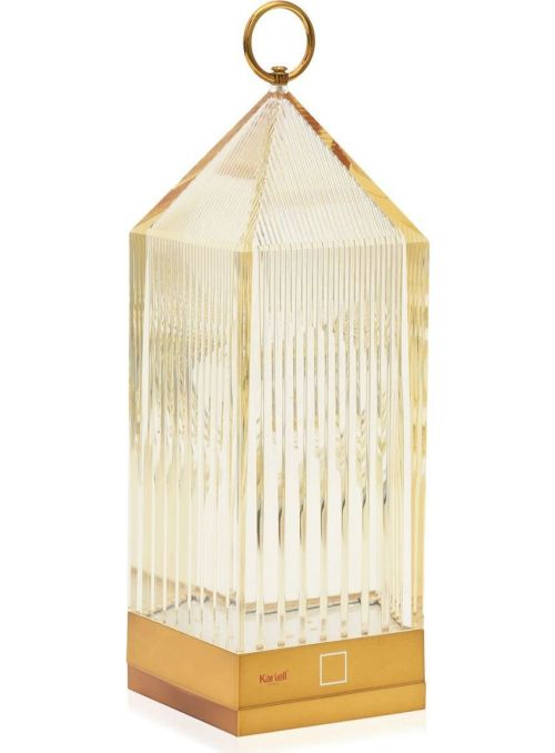 LAMPE DE TABLE LANTERN AMBRE