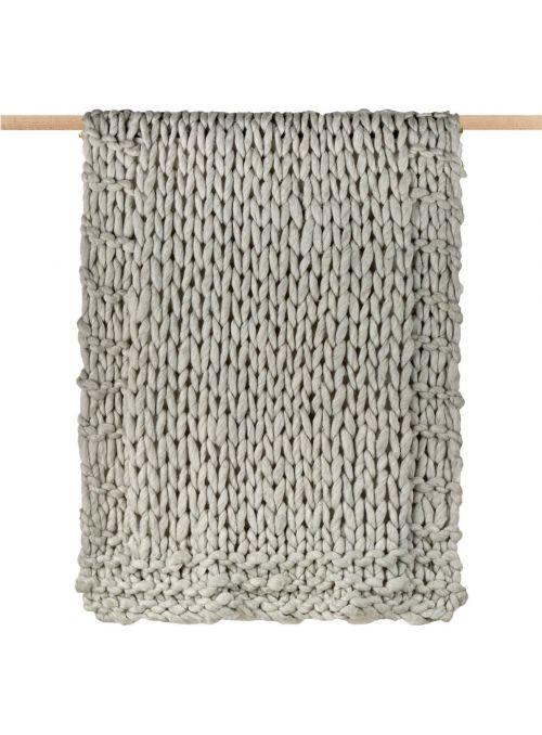 Petit plaid tricoté en...