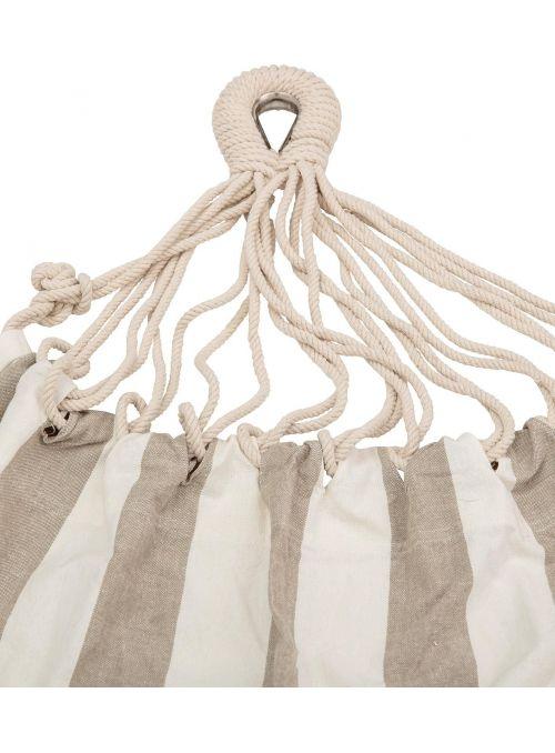 Hamac à rayures - blanc beige